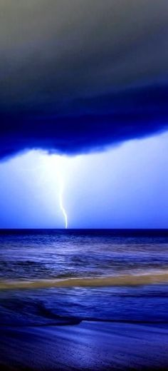 Blue electrical storm
