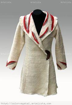 Abrigos tejidos a telar