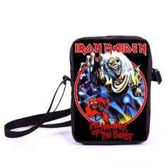 <font><b>Rock</b></font> Band <font><b>Iron</b></font> Maiden / Led Zeppelin / Nirvana <font><b>Mini</b></font> Messenger Bag Kurt Cobain Punk Crossbody Bag Women Men Daily Bags Bookbag Price: USD 12.7 | UnitedStates