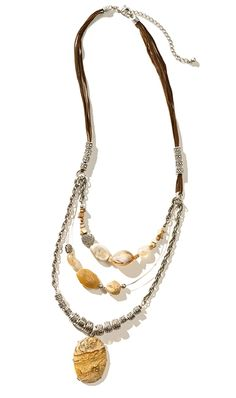 Sadie Long Necklace #chicos layering