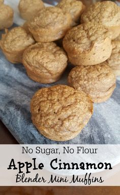 No Sugar, No Flour Apple Cinnamon Blender Mini Muffins - KaliKat Corner