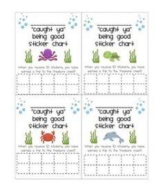 Behavior Sticker Chart Ocean