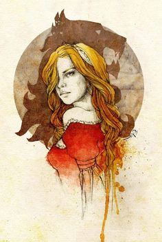 Game of Thrones - Queen Cersei Lannister Dessin Game Of Thrones, Game Of Thrones Art, Cersei Lannister, Lannister Song, Margaery Tyrell, Fantasy Kunst, Fantasy Art, Casterly Rock, The North Remembers