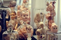 body parts, creepy, doll heads, doll parts, dolls, heads