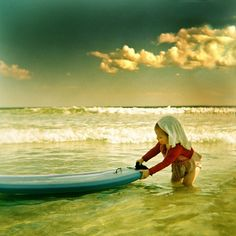 baby surfer .