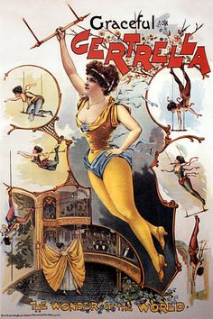 VINTAGE CIRCUS POSTER. THE HOKEY POKEY MAN AND AN INSANE HAWKER OF FISH BY CONNIE DURAND. AVAILABLE ON AMAZON KINDLE