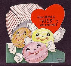 Vintage Anthro Candy Bits Valentines Day Card