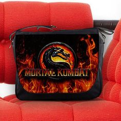 Mortal Kombat Fighting Game Unisex Messenger Sling Laptop Notebook School Bag