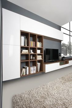 Cozy Living Room For Your Home - Living Room Design Living Room Wall Units, Home Living Room, Living Room Designs, Living Room Decor, Wall Cabinets Living Room, Home Office Design, House Design, Tv Wall Cabinets, Muebles Living