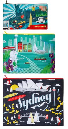 """""""Urban New York"""" Zip Pockets by LOQI 