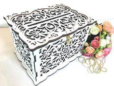 WEDDING MONEY BOX Wedding Card Box With Lock Wedding Card