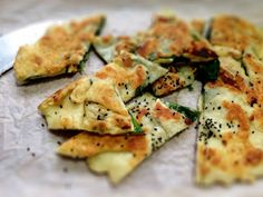 Ten Minute Halloumi & Spinach Gozleme with Black Cumin seeds: