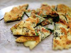 Ten Minute Halloumi & Spinach Gozleme with Black Cumin seeds: