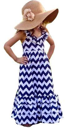d5d5ae23 Kids Girls Backless Wave Stripe Maxi Long Sundress Boho Dress Skirt -  CY12B7WGQAN