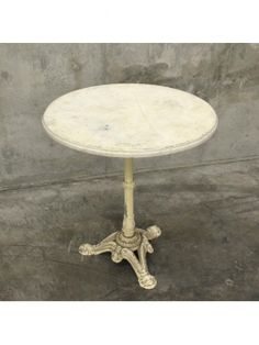 vintage round cafe table