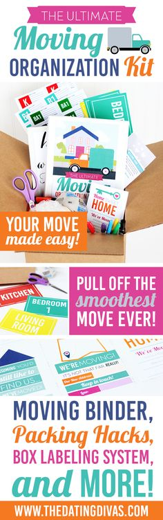 With a big move coming up, I definitely need these moving organization printables! I love how easy that box labeling system is! www.TheDatingDivas.com