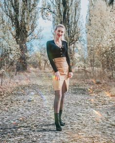 Leather Skirt, Outfit, Skirts, Fashion, Outfits, Moda, Leather Skirts, Fashion Styles, Skirt