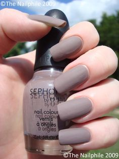 Sephora matte nail polish.... Love the matte finish. Nails are too long for my taste though.