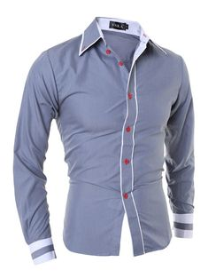 3e200953568 2017 New Men Dress Shirt Fashion Quality Classic Solid Color Long Sleeve  Casual Shirt Striped Men Slim Fit Camisa Masculina