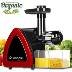 Buy Aobosi Slow Masticating juicer Extractor, Cold Press Juicer Machine, Quiet Motor, Reverse Function, High Nutrient Fruit and Vegetable Juice with Juice Jug & Brush for Cleaning (Upgraded Red) Parfait, Best Masticating Juicer, La Mastication, High Juice, Best Juicer Machine, Pen Drive Usb, Centrifugal Juicer, Cold Press Juicer, Blenders