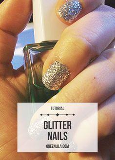 DIY Glitter nails |
