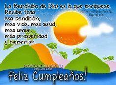 tu gracia me salvo Happy Birthday Quotes, Happy Birthday Wishes, Birthday Greetings, Spanish Birthday Wishes, Happy B Day, Mother Quotes, E Cards, Holidays And Events, Birthdays