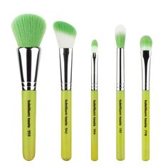 Bdellium Tools Professional Makeup Brush Green Bambu Series Mineral 5pc. Brush Set. Hand-crafted brushes. Professional brushes. Eco-friendly products.