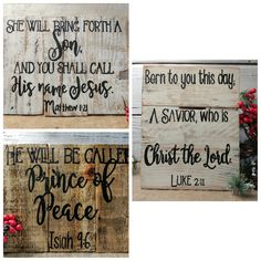 Bible verse pallet wall decor, rustic bible verse, Christmas bible verse, Christian home decor, Christian art, bible verse, Christmas decor by EdisonAvenue on Etsy