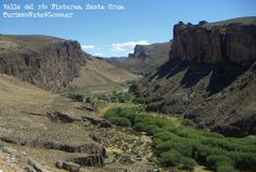 Vista del Valle del río Pinturas, Cueva de las Manos