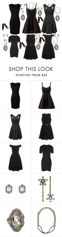 """""""Bridesmaids Perfect Little Black Dress"""" by lexi-asha ❤ liked on Polyvore featuring Elizabeth and James, WithChic, New Look, Topshop, Chloe + Isabel and Giuseppe Zanotti"""