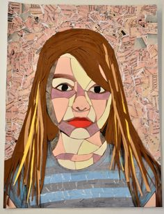 Amber Dearlove - Mixed media collage - year 11