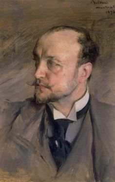 Artist:   Giovanni Boldini Title:   Self Portrait. Giovanni Boldini (1842-1931)  Born in Ferrara, Italy as the eighth in a family of thirteen children, Giovanni Boldini was the son of a painter and art restorer. He was a sickly baby, which led to a sick childhood, but was favored by his father nonetheless. This closeness with his father was probably the reason that Boldini became interested in art At the age of 20, Boldini received a bit of money from a wealthy uncle and decided to go to…