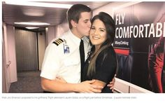 GOODNEWS! Pilot proposes to Marry a flight attendant in front of passengers