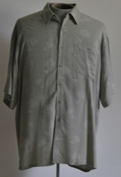 Men's Size X-Large Campia Moda Hawaiian Button Up Shirt 100% Rayon Short Sleeve