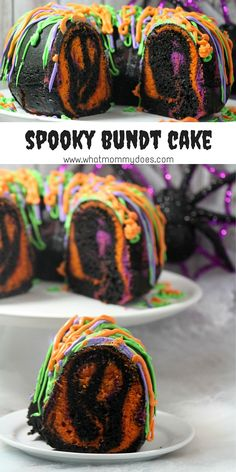 Bundt Cake ooooh yes! Delicious AND Eye Popping Spooky Halloween Bundt Cake from ooooh yes! Delicious AND Eye Popping Spooky Halloween Bundt Cake from Halloween Desserts, Spooky Halloween Cakes, Halloween Torte, Pasteles Halloween, Halloween Goodies, Halloween Food For Party, Fun Desserts, Halloween Tattoo, Dessert Ideas