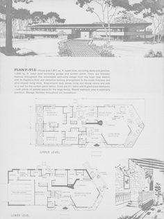 Vintage House Plans, Modern House Plans, House Floor Plans, Mansion Plans, Decks And Porches, Sims House, Home Design Plans, Cabin Homes, House Layouts