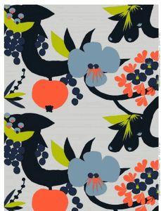 Elämänpuu fabric by Marimekko Motifs Textiles, Textile Patterns, Textile Prints, Textile Design, Print Patterns, Floral Patterns, Pattern Texture, Surface Pattern Design, Marimekko Fabric