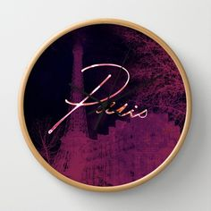 Paris light Wall Clock