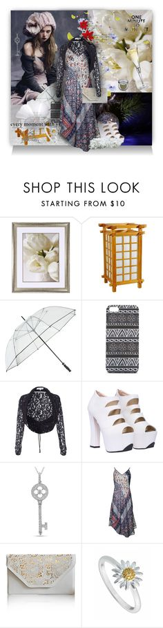 """""""One Minute to Midnight"""" by wildnature ❤ liked on Polyvore featuring Universal Lighting and Decor, Wild Rose, Fulton, With Love From CA, Damsel in a Dress, Ice, Velvet, Liucia Japan, Daisy Jewellery and Urban Decay"""