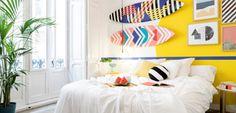 Habitaciones coloridas con toques exóticos - http://www.decoora.com/habitaciones-coloridas-toques-exoticos/