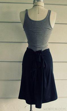 DIY Clothes DIY Refashion DIY No Sew, T-Shirt Skirt