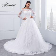 QQ Lover 2019 Pearls Beaded Vestido De Noiva Illusion Wedding Dress Wedding Gown Bridal Gown