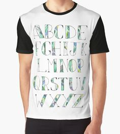 Alphabet | Graphic T-Shirt | by QB2b
