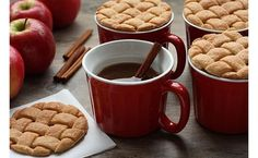 Lattice cookie topped apple cider