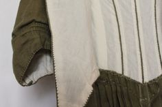 1770-85 Olive Linen Gown by GoldenHind on Etsy