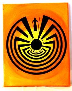 Man in the maze (hopi symbology)