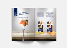 ICECO Fish | Advision  Packages of salmon with sauce.