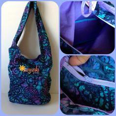 Hippy Satchel Hobo Bag Shoulder Purse Beach Diaper by Sunjunki, $29.00