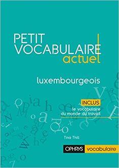 Petit vocabulaire actuel du luxembourgeois - Tina Thill - Livres