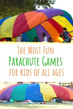 Physical Activities For Kids, Preschool Games, Music Activities, Summer Activities For Kids, Physical Education, Parachute Games For Kids, Group Games For Kids, Learning Through Play, Kids Learning